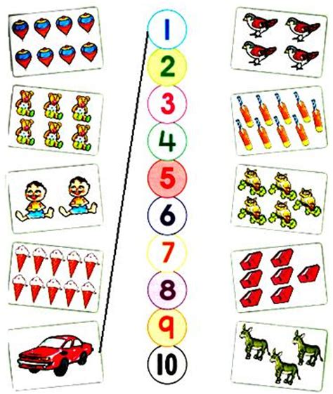 printable numbers with objects number matching worksheets for preschoolers 9 best