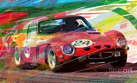 vintage ferrari art ferrari 250 gto vintage racing painting by david lloyd glover