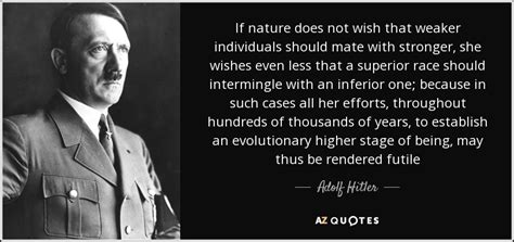 quot my way quot di adolf quote if nature does not wish that weaker
