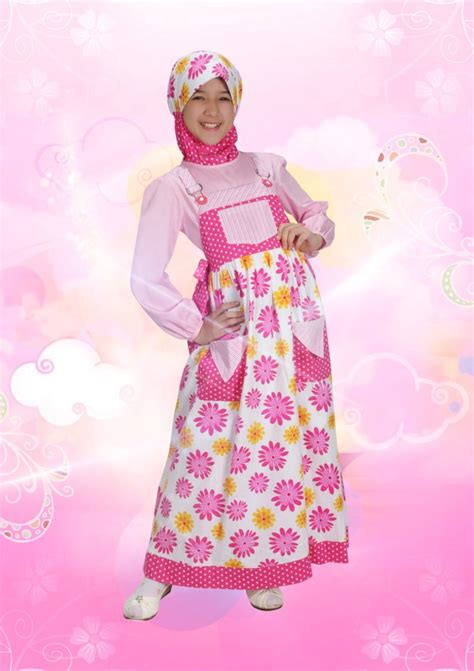 Gamis Anak Queena Aini 120903 Fuschia Baju Muslim Gamis Modern