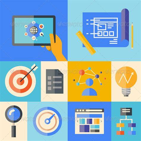 design management topics stock vector graphicriver website development