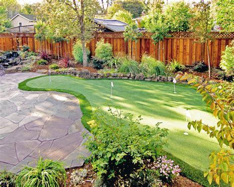 backyard putting green houzz