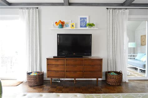 Shelf Tv by A Cheap Easy Shelf For That Blank Spot The Tv
