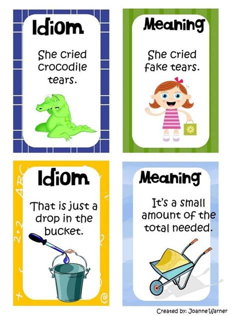 exle of idiom idioms mrs warner s 4th grade classroom reading