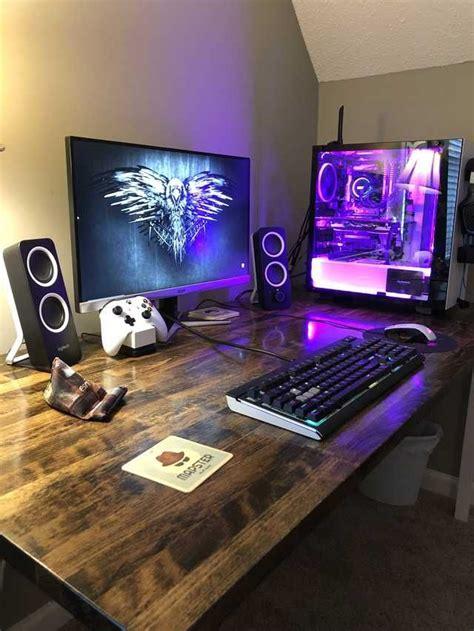 custom desk imgur gaming room setup room setup