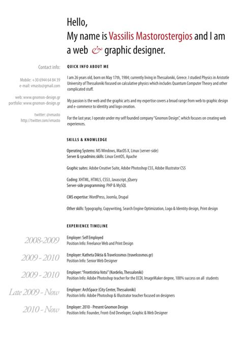 resume graphic designer exles cv parade