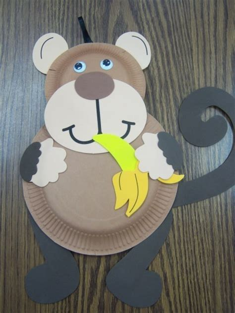 Paper Plate Monkey Craft - monkey craft alphabet crafts the letter m