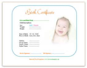 Birth Certificate Template Word by Birth Certificate Template Save Word Templates