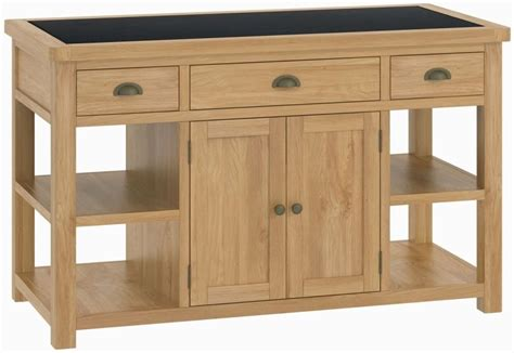 buy large kitchen island buy portland oak 2 door 3 drawer large kitchen island unit