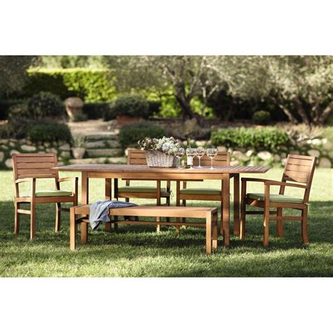Martha Stewart Patio Dining Set Martha Stewart Living Lake Carolina Smoked 7 Patio Dining Set With Extendable