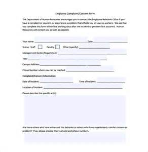 Hr Forms And Templates 29 hr complaint forms free sle exle format