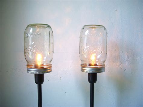 upcycled light fixtures 2 jar table ls upcycled lighting fixtures