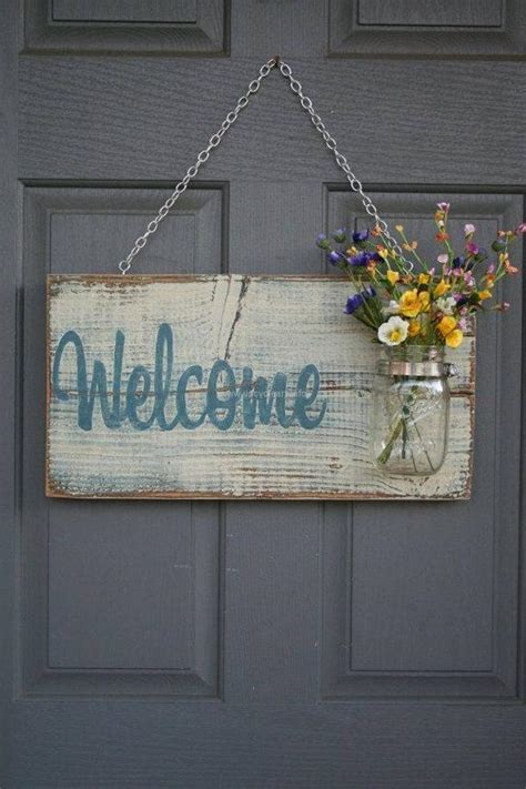 welcome home decoration recycled pallet wood decor crafts upcycle art