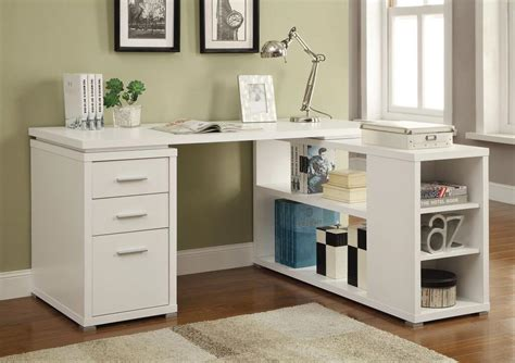l desk white l shaped white finish desk