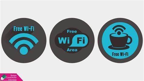 tutorial logo wifi tutorial logo free wi fi belajar coreldraw youtube