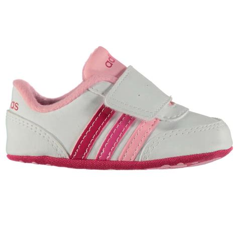 adidas neo jog crib shoes infant baby white pink babies booties footwear ebay