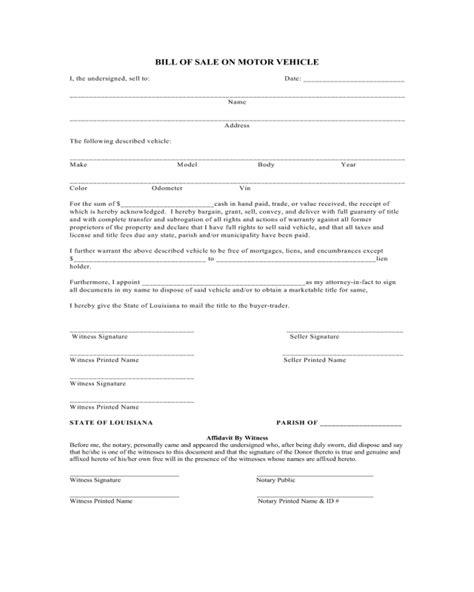 motor vehicle bill of sale word document motor vehicle bill of sale word document a