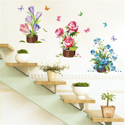 wall sticker store aliexpress buy painted potted wall sticker