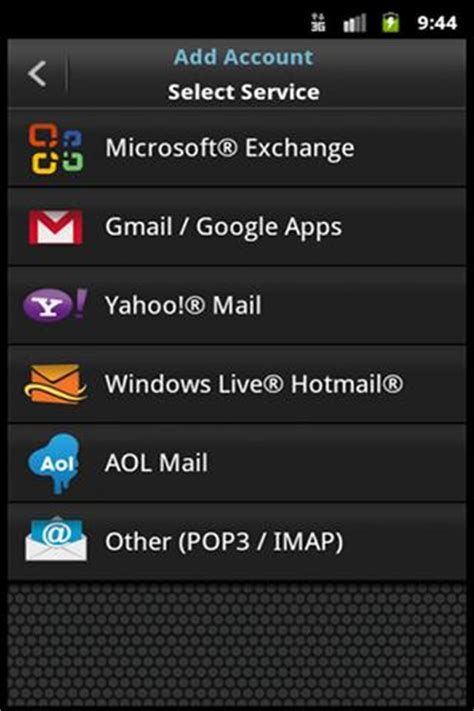 windows live mail for android emoze secure push mail app for email accounts apps400