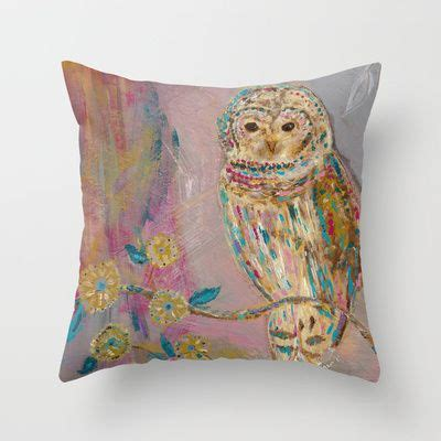 Jeweled Throw Pillows by Jeweled Owl Throw Pillow By Bari J