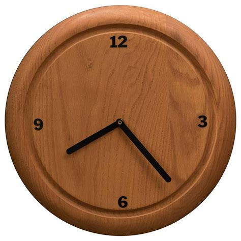 vintage solid wood wall clock by howard miller for sale at 1stdibs