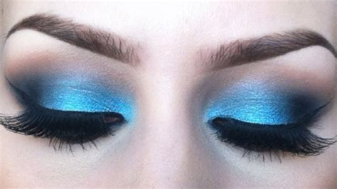 what colors make up blue vibrant blue eyeshadow tutorial l sigma resort inspired