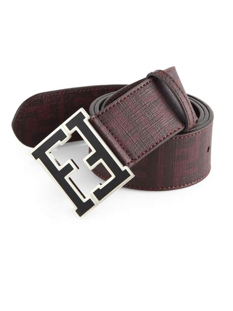 Purple Accessories Purple Wallets Purple Belts Purple Gloves And More by Lyst Fendi Logo College Belt In Purple For