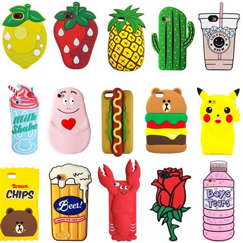 Iphone5 3d Kisd silicone animals 3d phone cover skin for iphone 5 6s 7 plus ebay