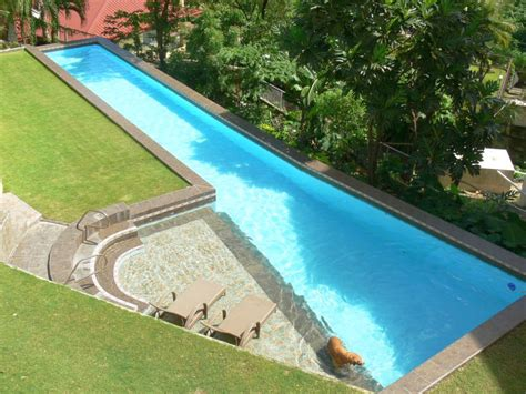lap pools asymetric lap pool designs with small deck
