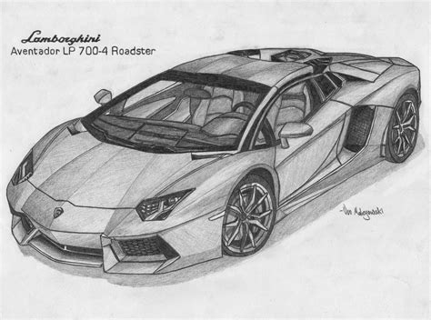 car lamborghini drawing vonmalegowski april 2014