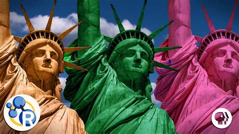 what color did why is the statue of liberty green