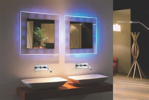 backlit led bathroom mirror bellissimo backlit mirror rgb colored led mirror with