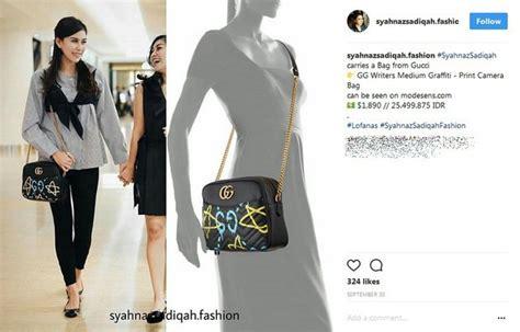 Harga Gucci Sling Bag ada yang seharga 300 juta ini koleksi sling bag syahnaz