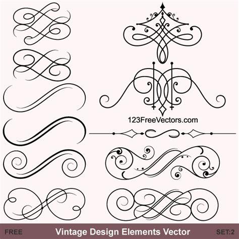 vintage design elements font vintage calligraphic vector ornaments 123freevectors