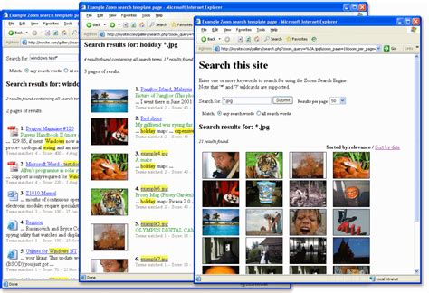 How To Search For Using An Image Wrensoft Zoom Search Engine Screenshots Image Search Results