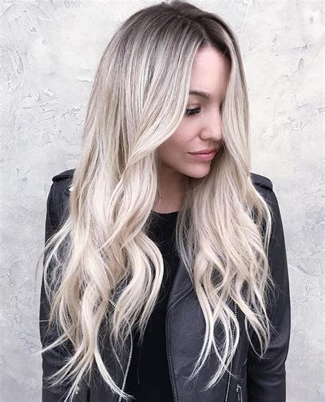 perfect shadow root on blonde hair pin by becca risenhoover on own that ponytail work that
