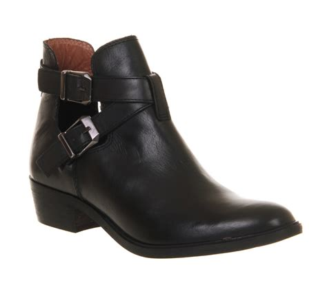 cut shoes for womens office bronson cut out black leather boots ebay