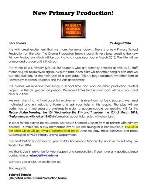 Fundraising Letter Ps ps production parent contribution letter aug 2014 pdf