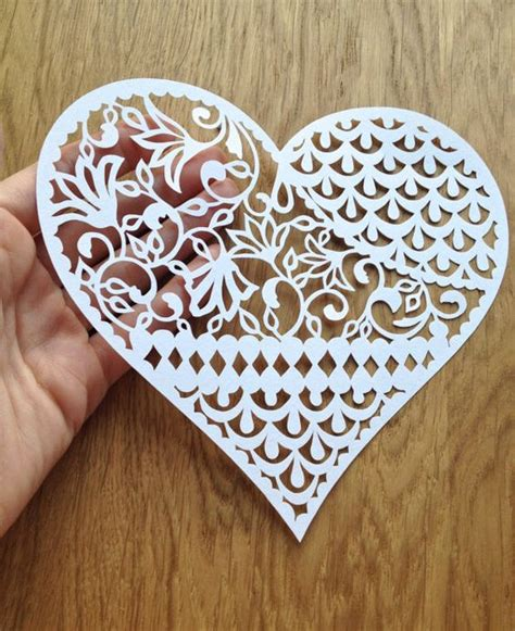 pattern paper cutting papercutting heart designs and templates on pinterest