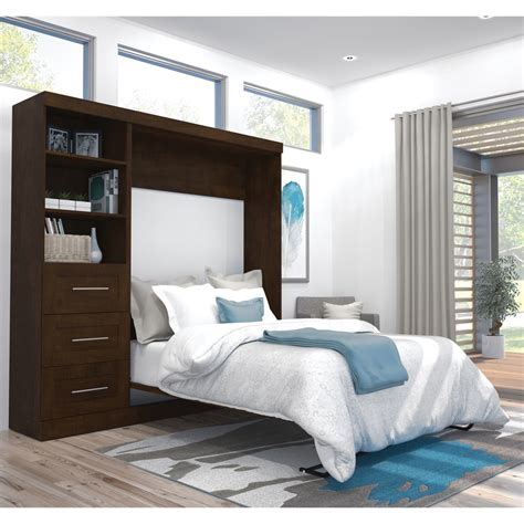 full wall bed 84 quot full wall bed kit in chocolate