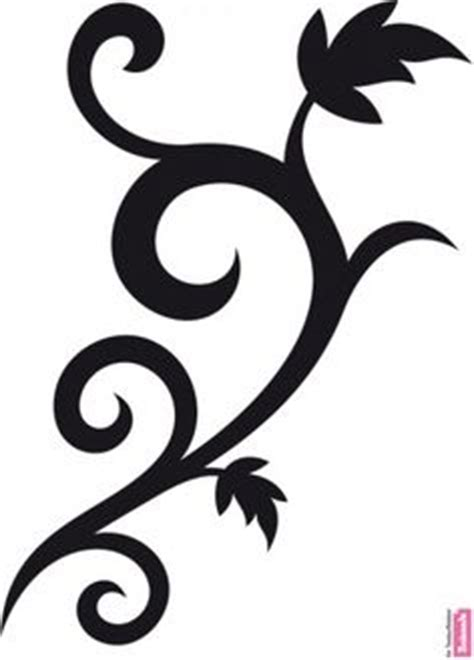 tribal vine stencil clipart best