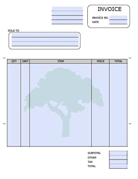 free invoice template with quantity and description