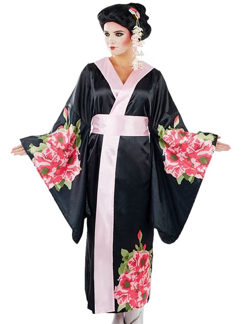 Geisha Dres 2 geisha costume adults japanese fancy dress womens kimono ebay