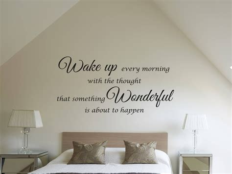 mooie muurstickers woonkamer muursticker quot wake up every morning quot
