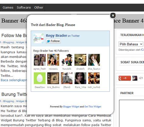 membuat follow twitter di blog cara membuat widget follow me box twitter melayang di blog