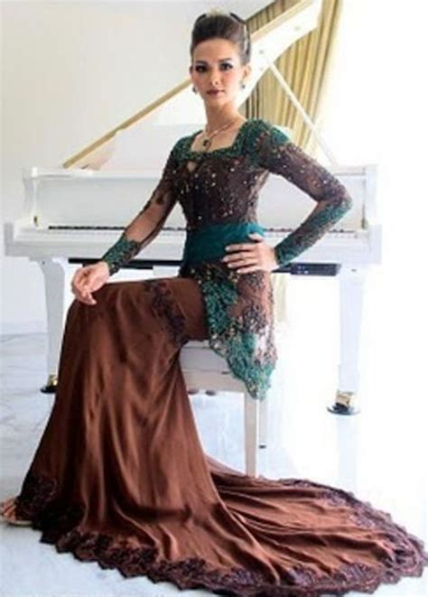 Brokat Brukat Bahan Kain Kebaya Dress Black Series kebaya moden cosry traditional costume