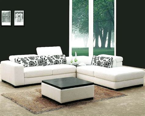 white fabric sectional sofa white fabric 4pc modern sectional sofa set 44l0867