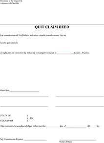 quit claim template free arizona quitclaim deed form formxls