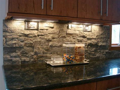 Stone Veneer Kitchen Backsplash by Planning Amp Ideas Stacked Stone Tile Backsplash Stacked