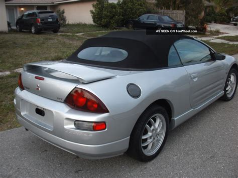 mitsubishi spyder eclipse convertible 2001 mitsubishi eclipse spyder gt convertible 2 door 3 0l